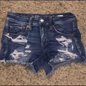American Eagle Super Stretch Distressed Shorts